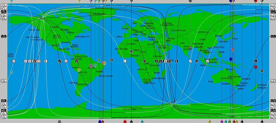astrokartografi seyahat